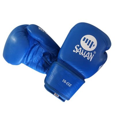 Boxkesztyű, Saman, Mex Glove, bőr, kék, 10 oz méret