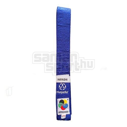 Karate öv, Hayashi, WKF, kék, 300 méret