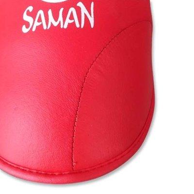 Lábfejvédő, Saman, karate, PU, piros, L méret