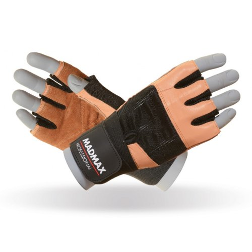 Fitness Gloves, Madmax, Professional, for men, Barna szín, XXL size, Barna szín, XXL méret
