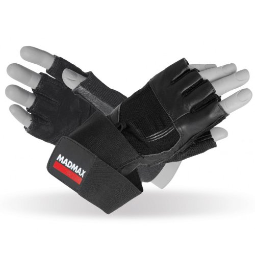 Fitness Gloves, Madmax, Professional, for men, Fekete szín, XL size, Fekete szín, XL méret