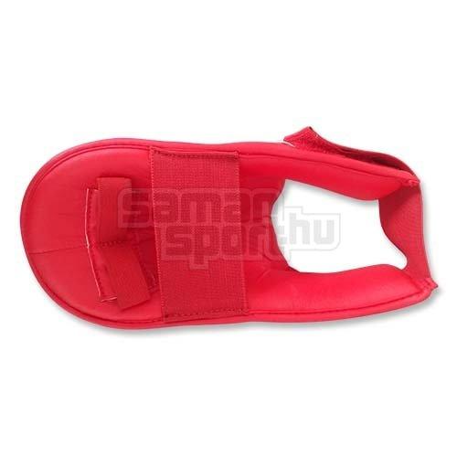 Lábfejvédő, Saman, karate, PU, piros, S méret