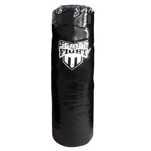 Boxzsák 120 cm-től, Saman Spirit of Fight, műbőr, lánccal, 140x40 cm méret