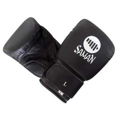 Zsákolókesztyű, Saman, Pro, bőr, fekete, XL méret