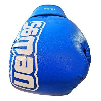 Boxkesztyű, Saman, Mex Glove, bőr, kék