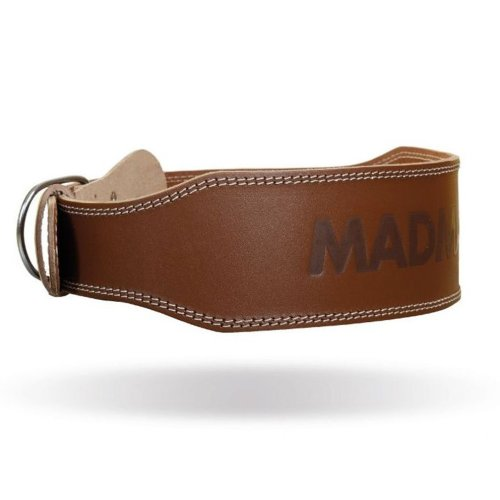 Súlyemelő öv, Madmax, Full Leather Chocolate Brown, bőr, barna