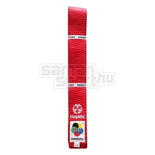 Karate öv, Hayashi, WKF, piros, 280 méret